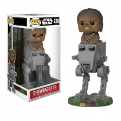 Pop Figure Star Wars Deluxe - Chewbacca with AT-ST