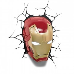 Candeeiro Iron Man - 3D LED...