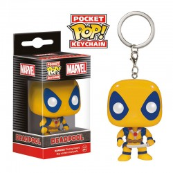 Porta-Chaves Pocket Pop! Yellow Deadpool - Marvel Comics